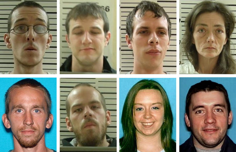 From left, top row: David Vaughn, Michael Clark, Joel Allen and Brandie Higgins. Bottom row: David Maguire, Nicolas Maguire, Wendy Cassidy and Chris Newcomb