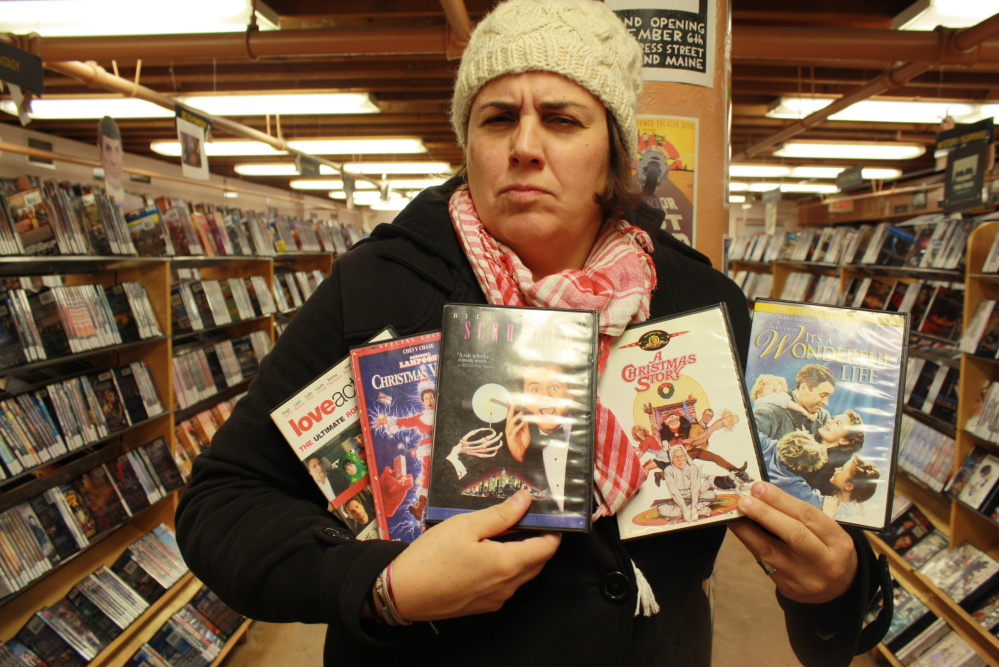 Aimsel Ponti at Videoport, where she found some of her favorite Christmas classics.