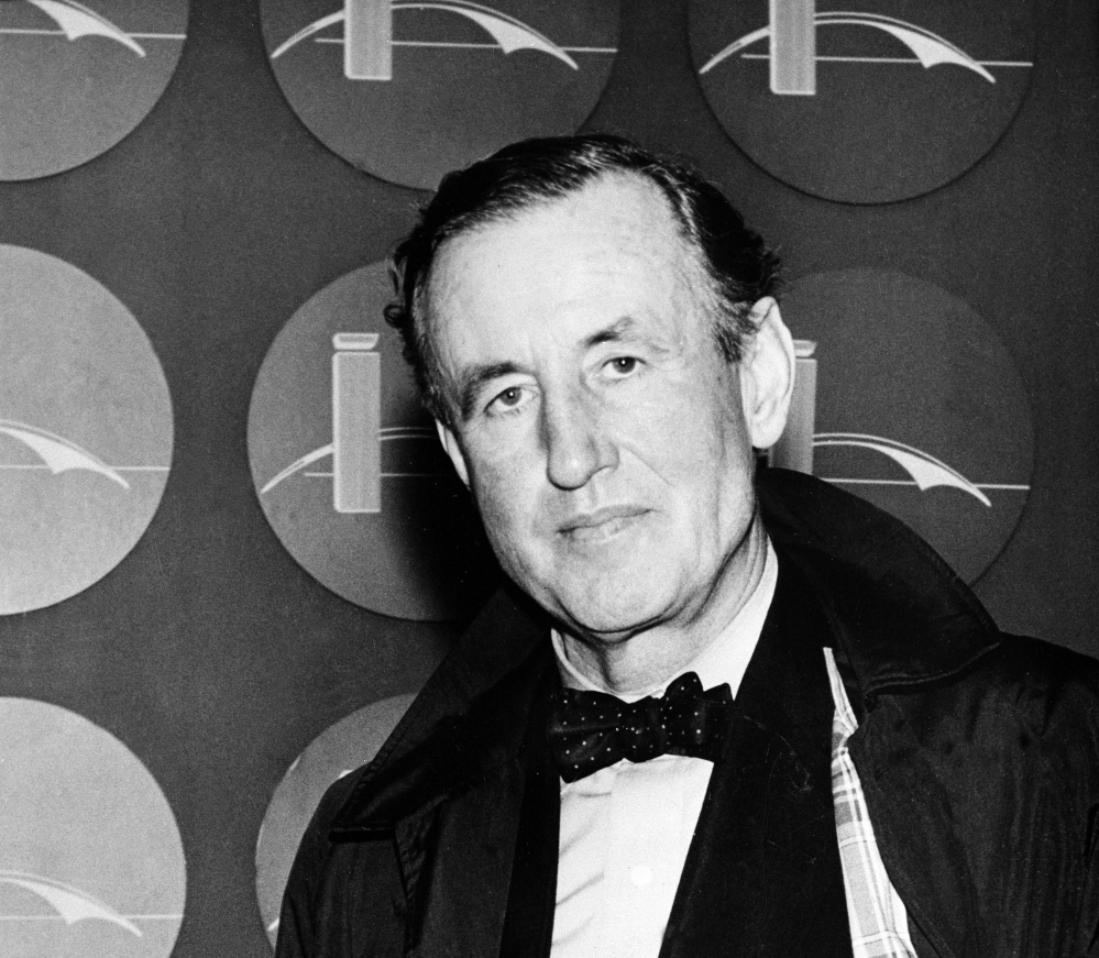 This 1962 file photo shows Ian Lancaster Fleming, the best-selling British author and creator of a fiction character known as secret agent James Bond. British doctors who carefully read Ian Fleming's series of James Bond novels say the celebrated spy regularly drank more than four times the recommended limit of alcohol per week. Their research was published in the light-hearted Christmas edition of the journal BMJ on Thursday.
