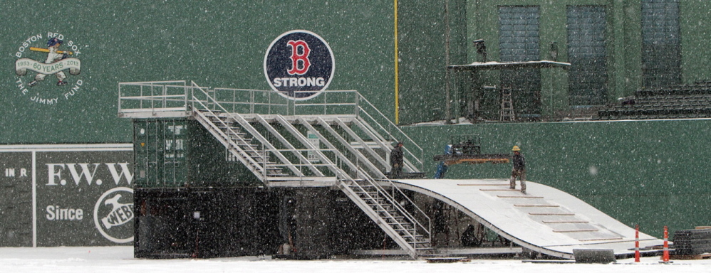 "The ""Monster Sled,"" a 20-foot-high sledding and tubing structure with five ramps, will be featured at the 17-day Citi Frozen Fenway ice event, which opens Dec. 28."