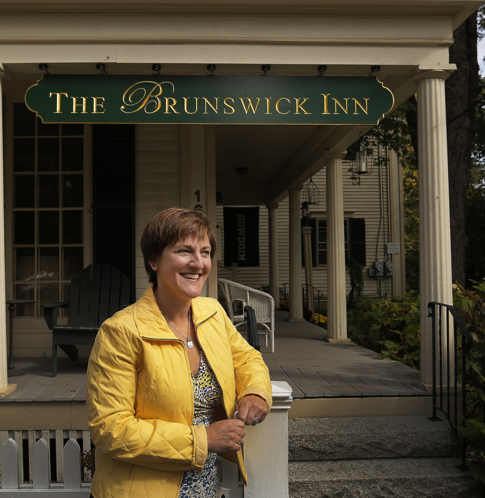 Eileen Horner operates The Brunswick Inn, an 1848 Federal-style house on the town's stately Park Row.