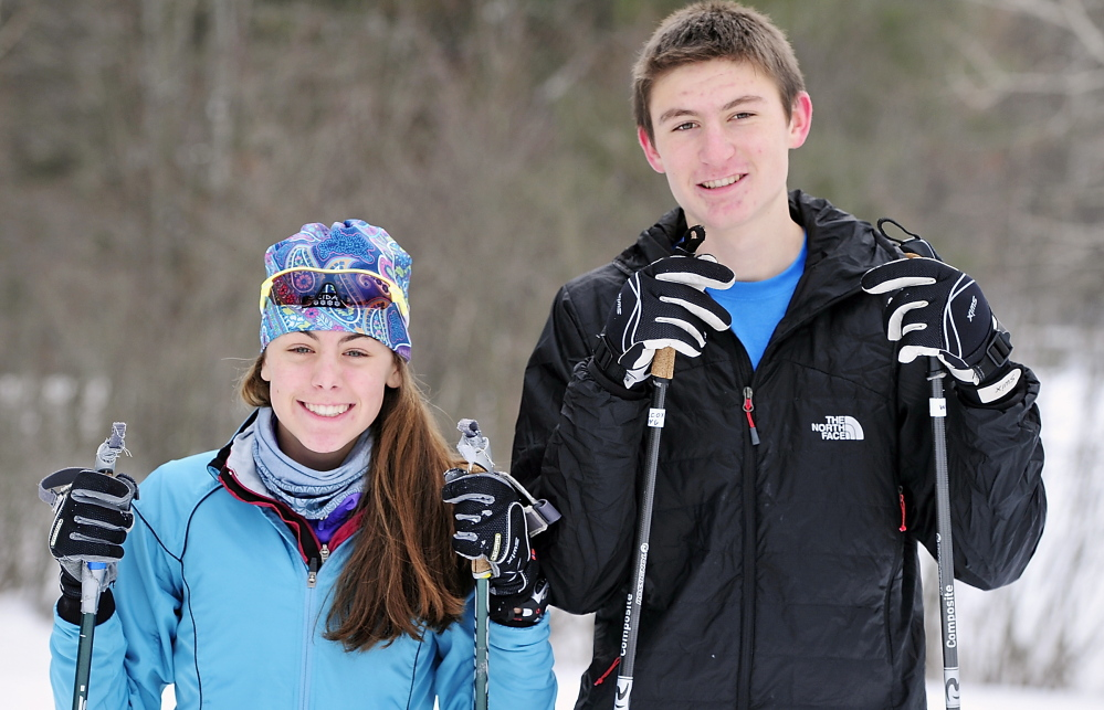 Kaelyn Woods and Eric Wilcox, two top skimeister contenders at Gray-New Gloucester, won't be worrying about starting times this season because of a format switch.