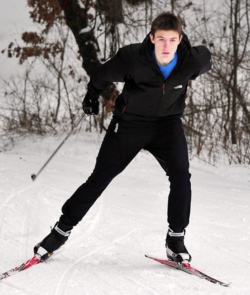 Eric Wilcox, who is returning for his junior season at Gray-New Gloucester, won the Class B skimeister championship a year ago and hopes to repeat.