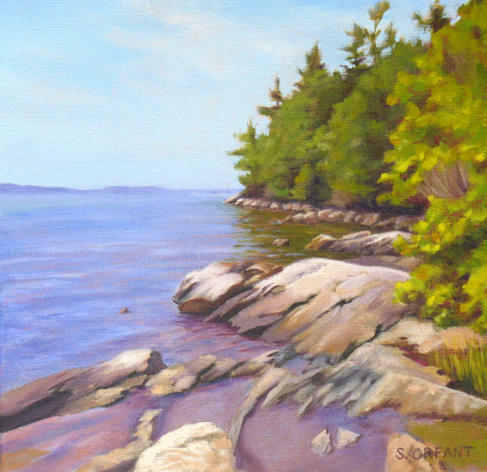 """Tidepools at Wolfe's Neck"" by Susan Orfant"