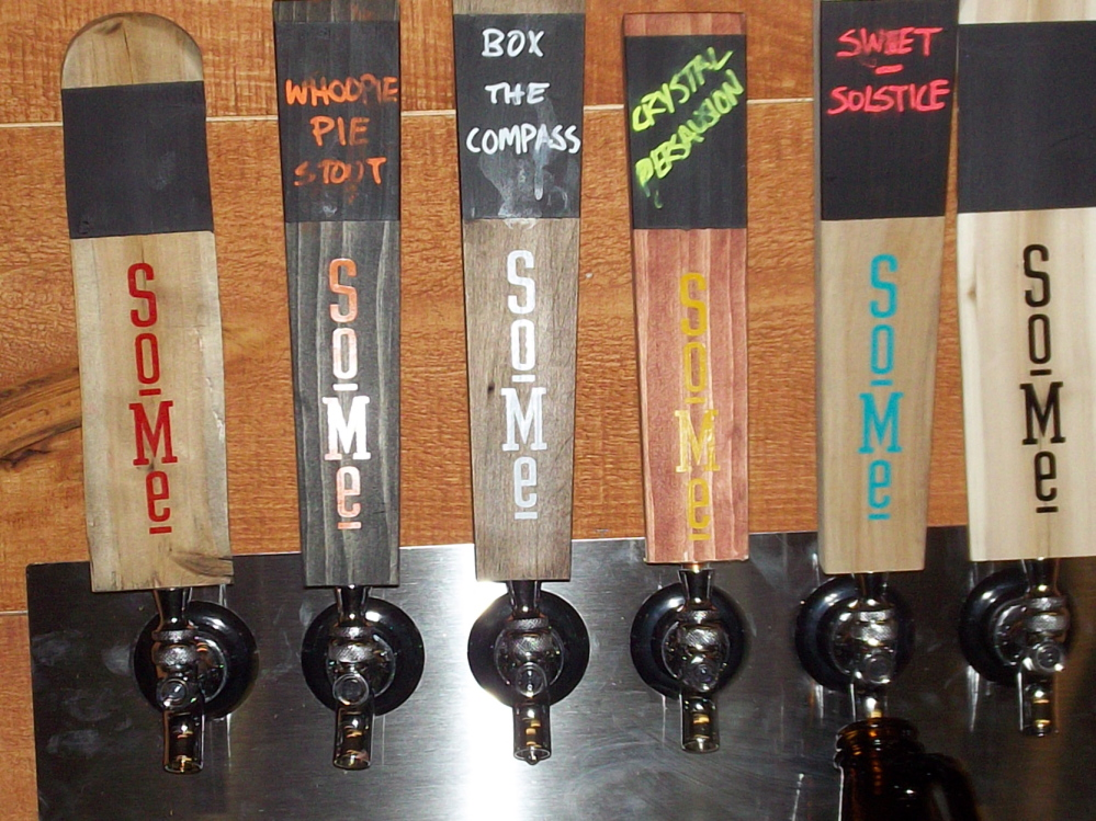 SoMe brews offered during the grand opening included Whoopie Stout, Box the Compass, Crystal Persuasion and Sweet Solstice.