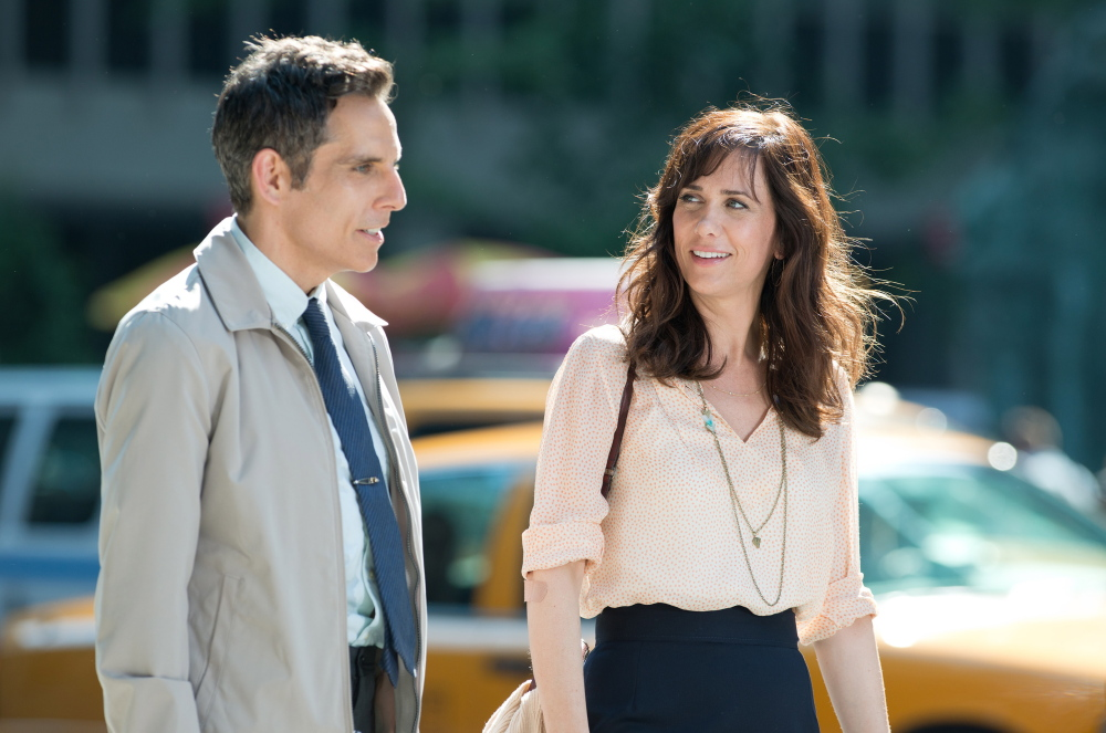 "Ben Stiller, left, and Kristen Wiig star in ""The Secret Life of Walter Mitty."""