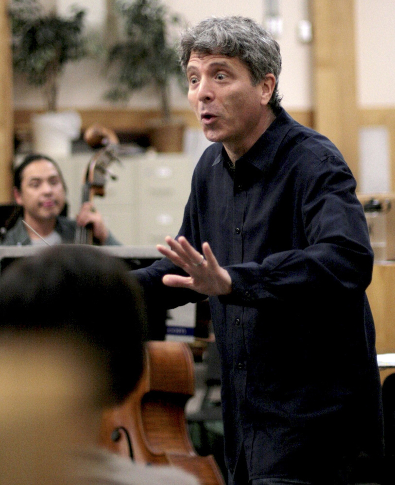 "Ronald Braunstein conducts a rehearsal of the Me2/Orchestra, billed as ""the world's only classical music organization for individuals with mental illness."""
