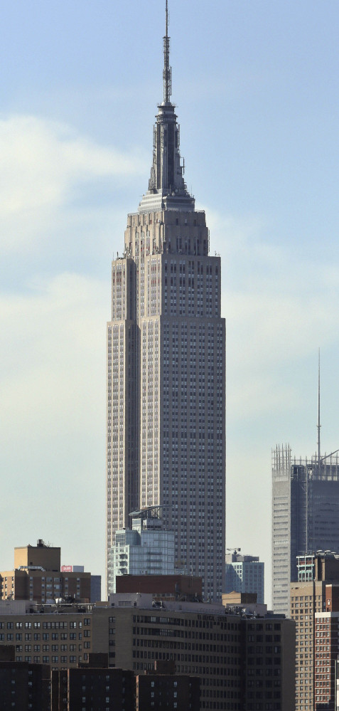 The Empire State Building in New York, built in 1931, is 102 stories tall.