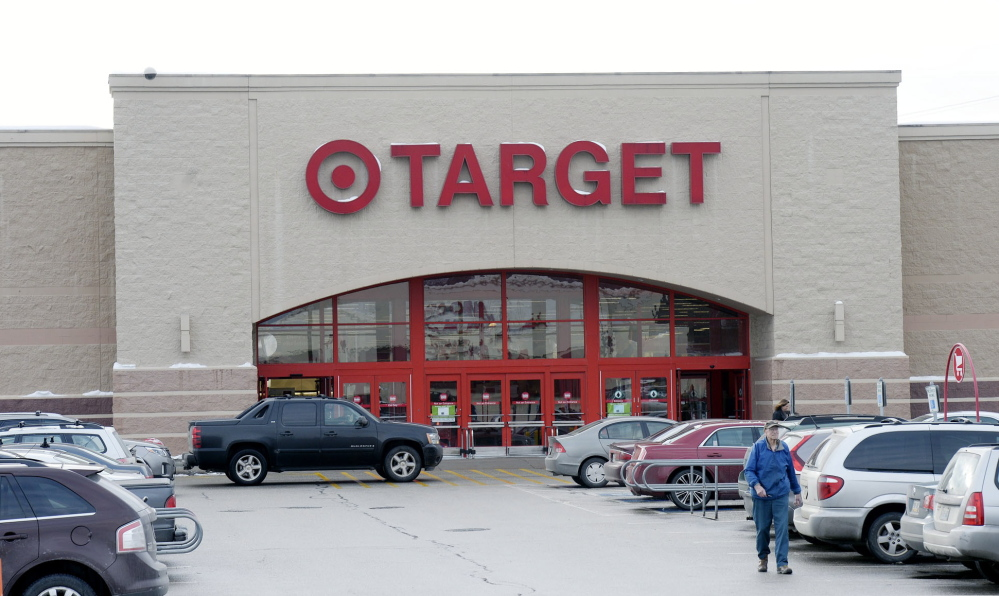 Hundreds of credit and debit card numbers stolen from the Target in South Portland, above, and Target's four other Maine stores were offered for sale on a black market website.