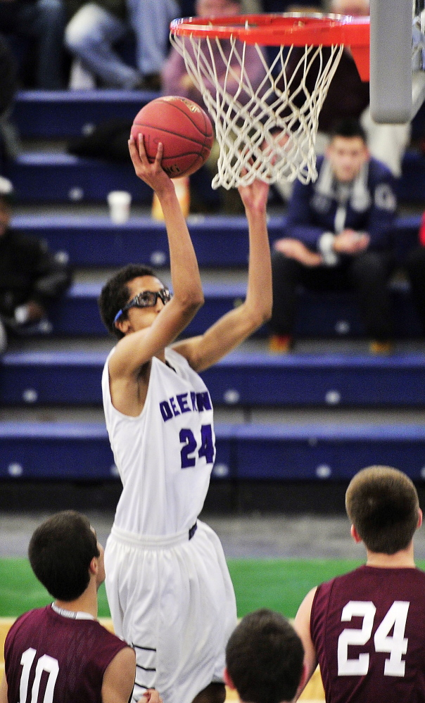 Ahmed Ali of Deering found his shooting touch from both near and long range Friday night, scoring 30 points against Gorham in a regular-season victory in a holiday tournament.
