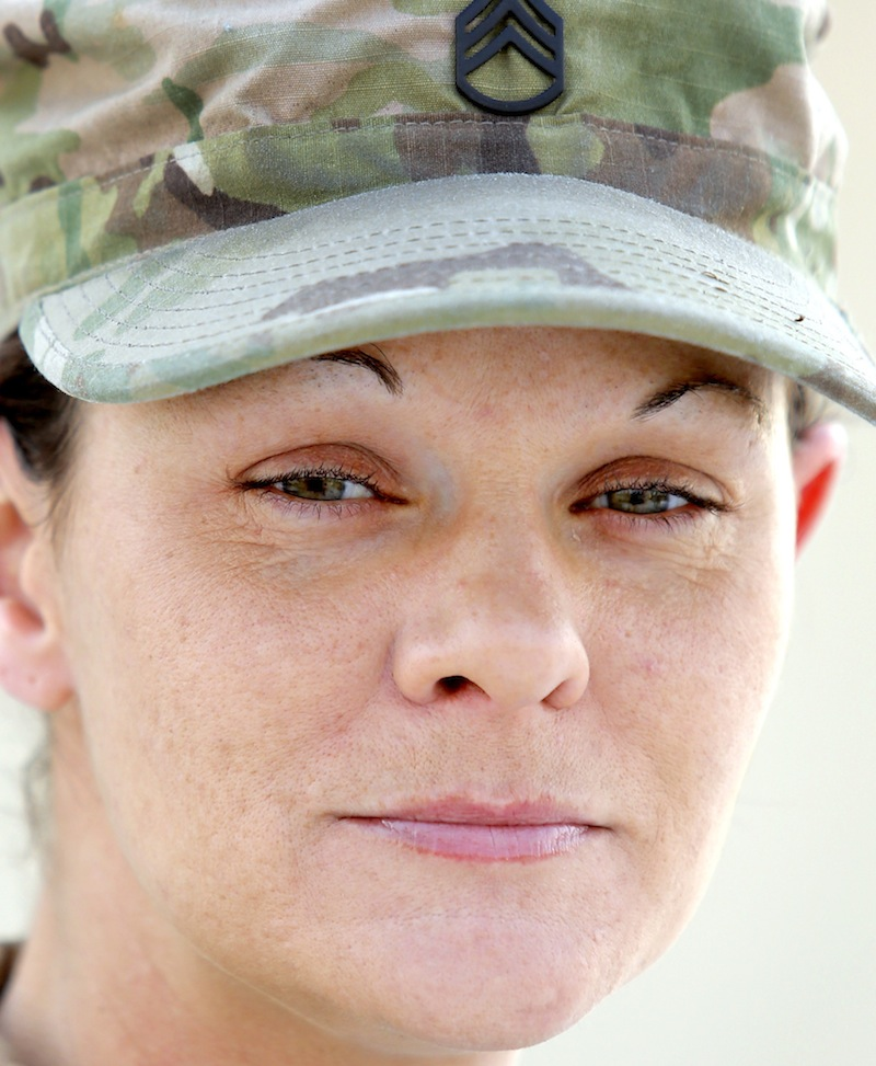 Staff Sgt. Mary Quirion of Gardiner, photographed Tuesday, December 31, 2013 for soldier profiles.