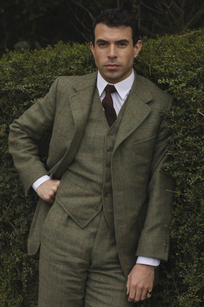 """Tom Cullen plays Lord Gillingham, a possible romantic interest for Lady Mary, in a scene from Season 4 of the Masterpiece TV series, """"Downton Abbey."""""""