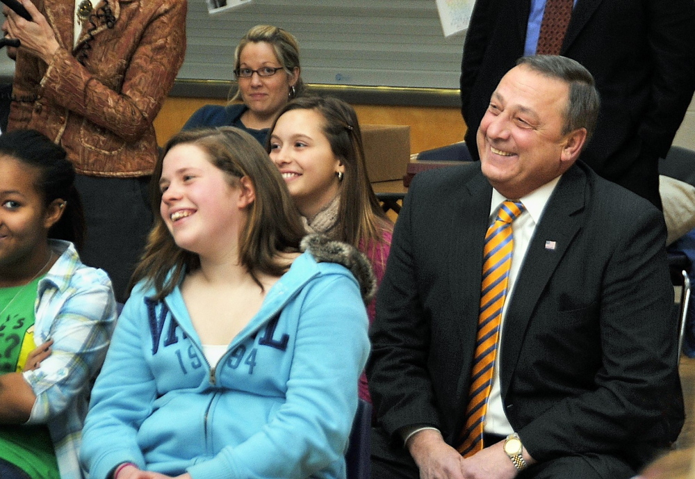In 2010, then-Gov-elect Paul LePage visited Lyman Moore Middle School in Portland to talk about his plans for education. Cutting school resources, however, was not one of his talking points.