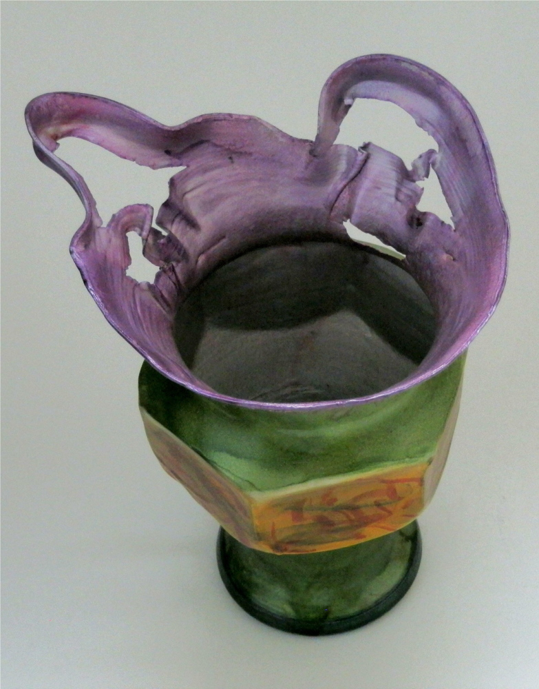 """Water, Metal, Image"""" features aluminum vessels, watercolors and photographs by James Seavey."""