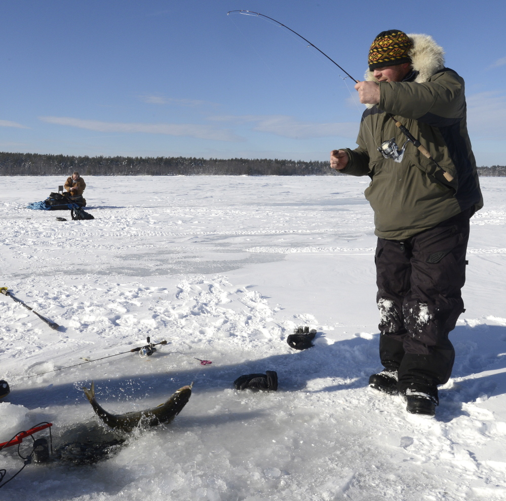 Tips For Mentored Youth Trout Fishing Day In Pennsylvania: Ice Fishing Season Weeks Early On Sebago Lake