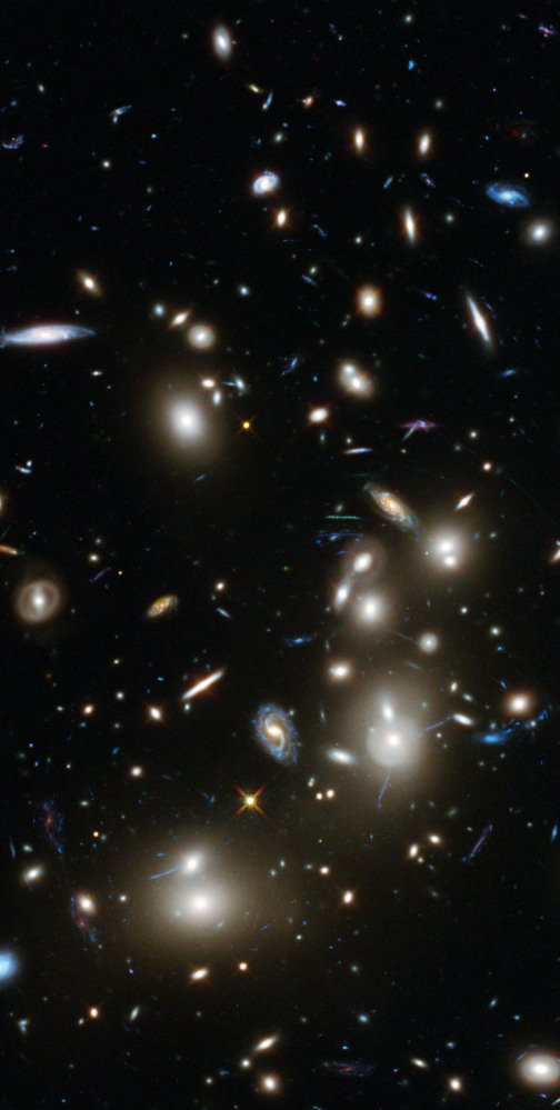 The long-exposure image taken with NASA's Hubble telescope shows some of the faintest and youngest galaxies.