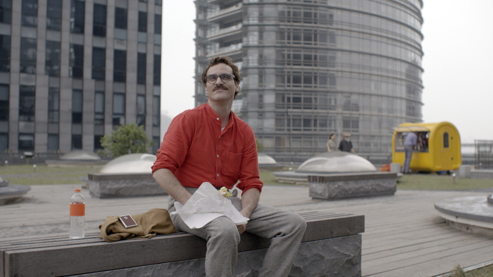 """Joaquin Phoenix stars as Theodore, a lonely writer of heartfelt notes for hire, in """"Her."""""""