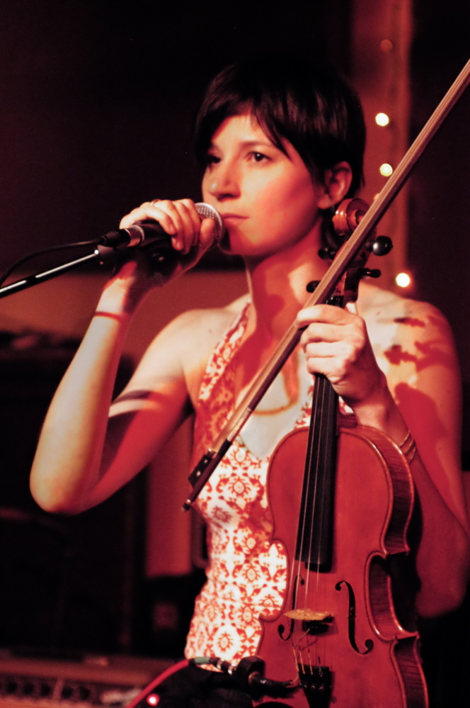 Eszter Balint, at present juggling her music and acting careers, will perform her music at One Longfellow Square in Portland on Saturday.