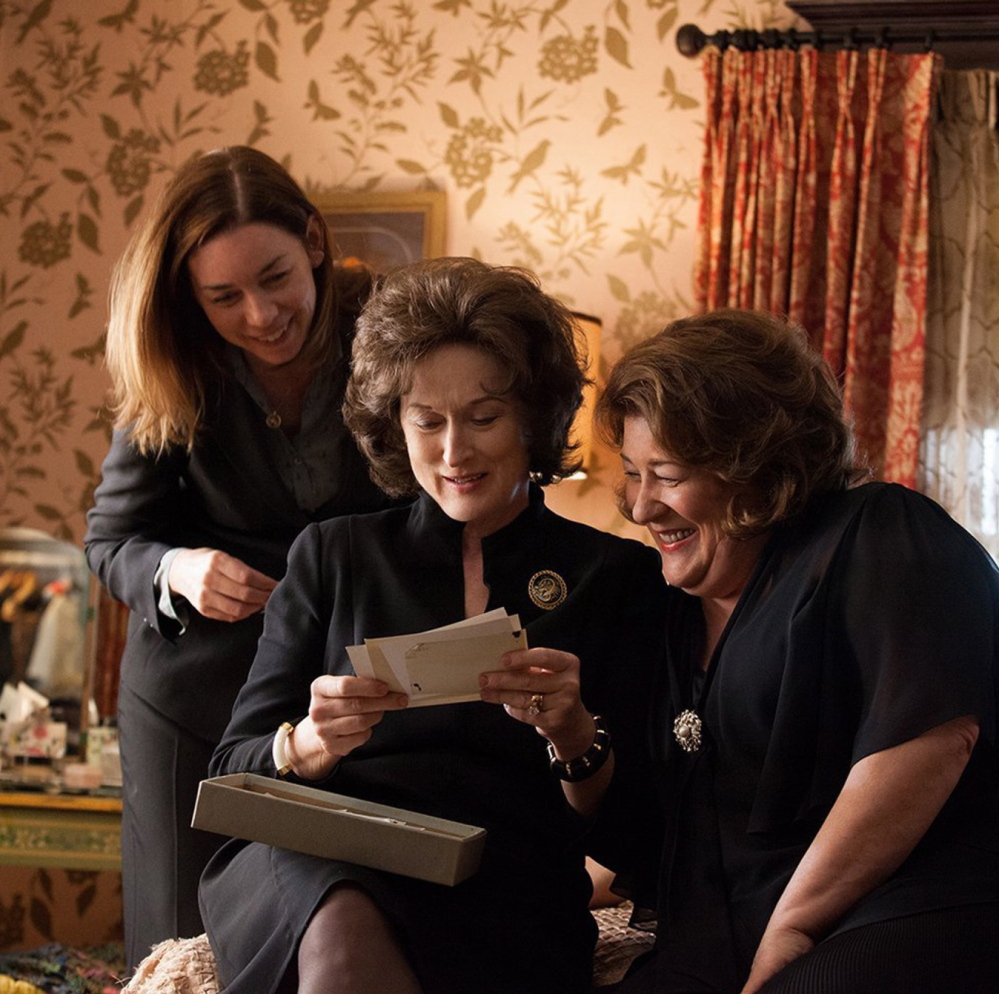 """Julianne Nicholson, left, Meryl Streep and Margo Martindale in a scene from """"August: Osage County."""""""
