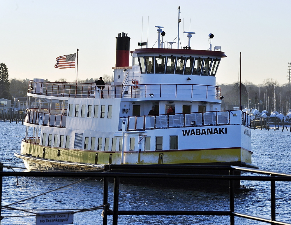 The Wabanaki, a new ferry for Casco Bay Lines in Portland, arrives in port Thursday after a 16.5-hour trip from Blount Boats Inc. in Warren, R.I., where it was built.