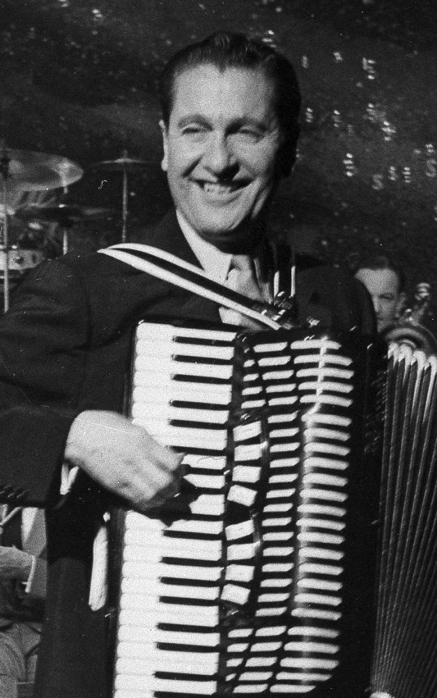 Lawrence Welk leads his big band in this 1958 photo. The North Dakota native died in 1992 at age 89.
