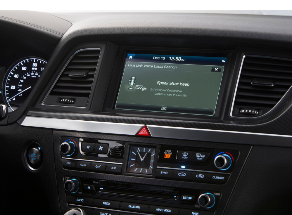 The latest version of Hyundai's Blue Link multimedia navigation system is powered by Google.