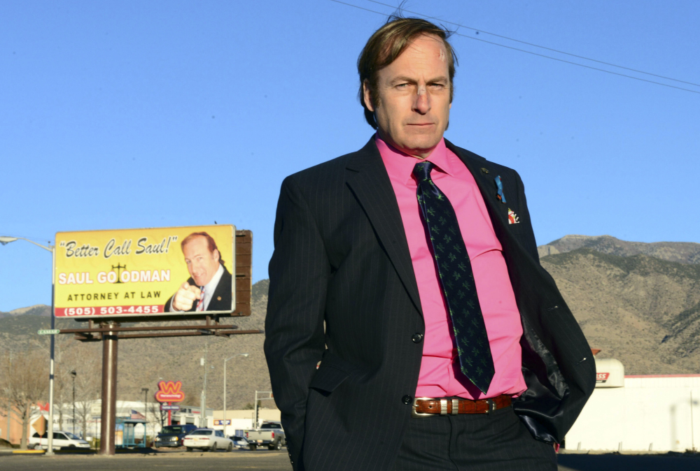 """This image released by AMC shows Bob Odenkirk in a scene from the final season of """"Breaking Bad."""" AMC and Sony Pictures Television confirmed that Odenkirk, who plays Saul Goodman, will star in a series titled """"Better Call Saul"""" in November."""