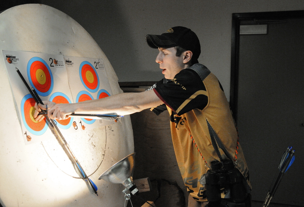 Charlie Weinstein, 17, is the fifth-ranked outdoor shooter in his age group – 16 to 21 – and first-ranked indoor shooter, according to USA Archery.