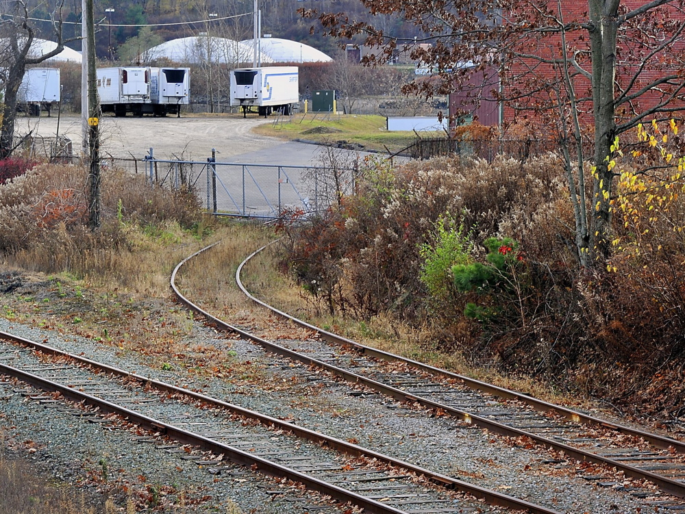 A St. Lawrence & Atlantic Railway spur runs into the B&M plant area. The railroad is asking the U.S. Surface Transportation Board for permission to discontinue freight service on the 24-mile line.