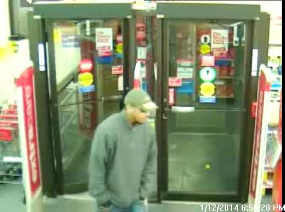 Video footage shows a man who police say robbed the CVS pharmacy at Westgate Shopping Center in Portland on Sunday night.