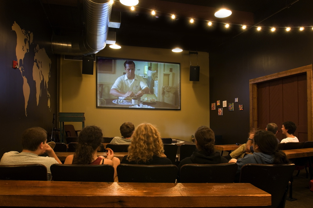 Frontier Cafe + Cinema + Gallery in the Fort Andross Mill in Brunswick shows movies by Maine filmmakers and also runs a lot of documentaries.