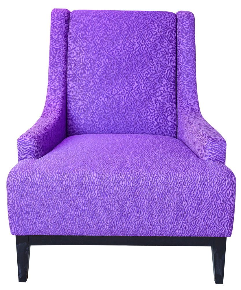 A reupholstered chair.