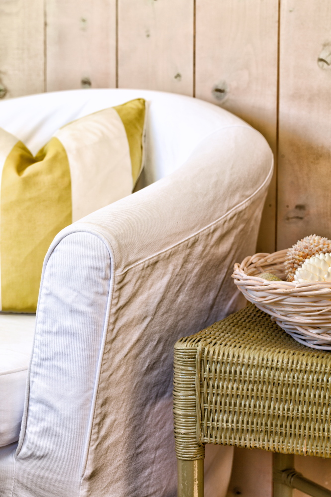 But for those who aren't ready to take on a full-blown reupholstery job, making slipcovers can be a simpler DIY solution.
