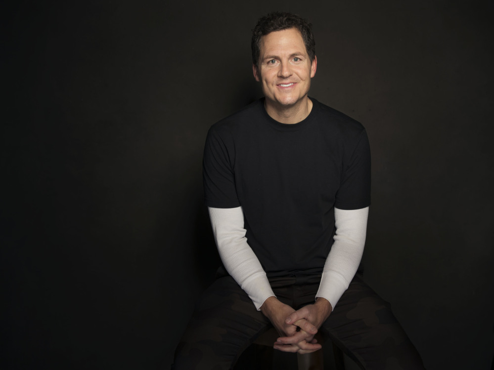 Greg Whiteley poses for a portrait at The Collective and Gibson Lounge Powered by CEG, during the Sundance Film Festival, on Saturday in Park City, Utah.