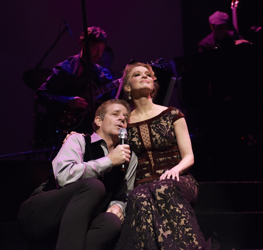 "The Crooner (Robert Yacko) and the Chanteuse (Amy Bodnar) perform one of the two dozen or so Gershwin songs in ""Words By."""