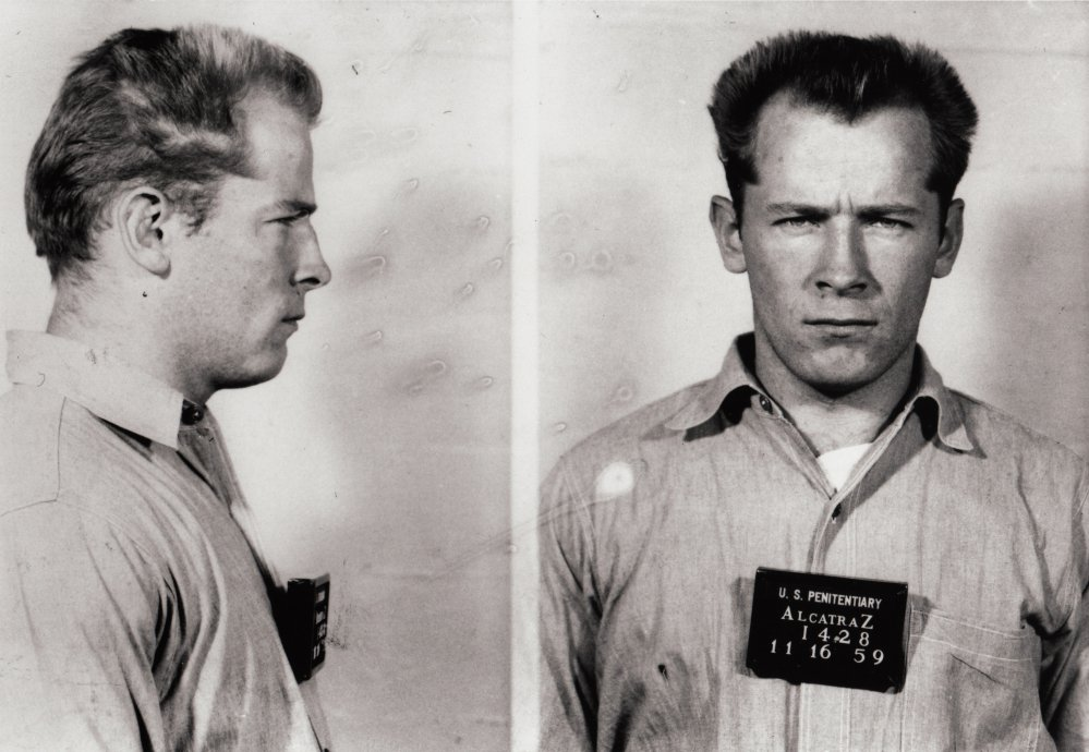 James 'Whitey' Bulger is shown in a prisoner transfer photo from the U.S. Penitentiary at Alcatraz, in San Francisco.