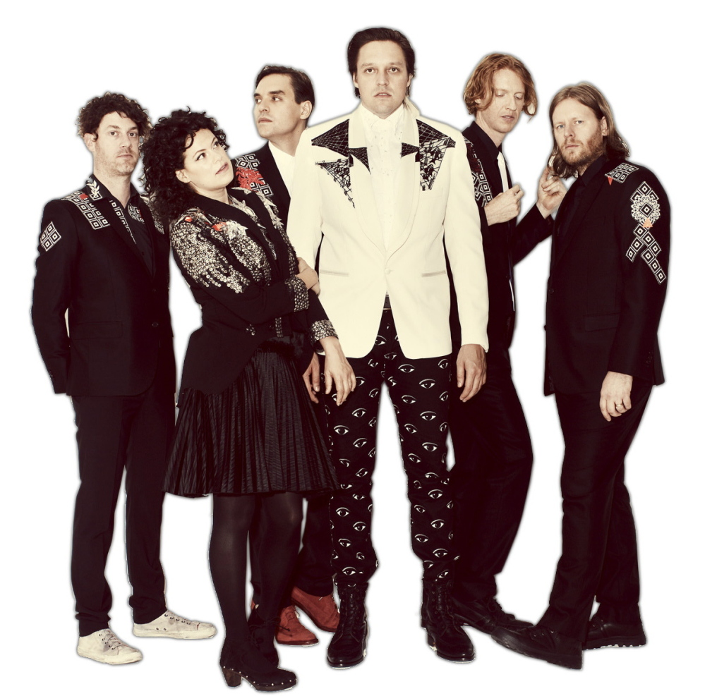 Arcade Fire, from left: Jeremy Gara, Regine Chassagne, Will and Win Butler, Richard Reed Parry and Tim Kingsbury.