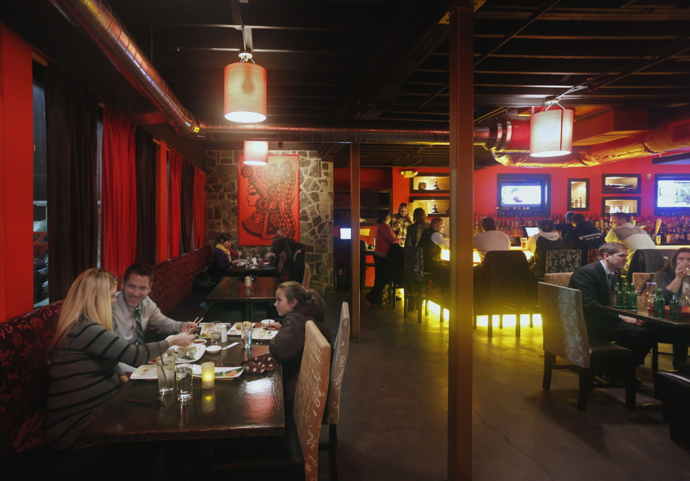 Kon Asian Bistro attracts a lively crowd with its hibachi dinners and skillfully prepared cocktails.