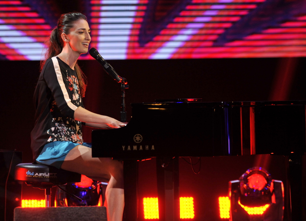 """Sara Bareilles is in the running for best pop solo performance for """"Brave,"""" from the singer-songwriter's third album, """"The Blessed Unrest,"""" which is nominated for album of the year."""
