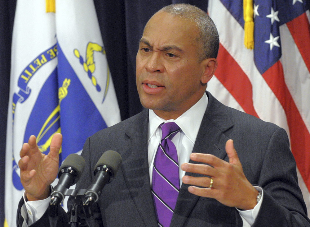 Massachusetts Gov. Deval Patrick speaks about a review of the state Department of Children and Families on Monday at the Statehouse in Boston.