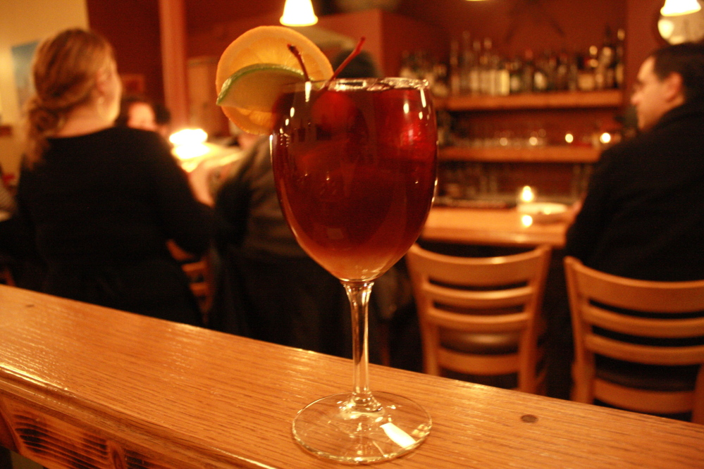 Caiola's sangria, $8, is a mix of red wines and brandy.