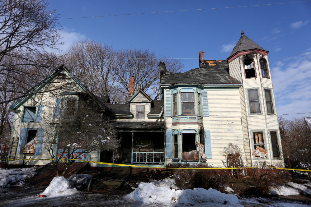 A Jan. 19 fire at 84 Irving St. in Portland left the building unsafe to enter.