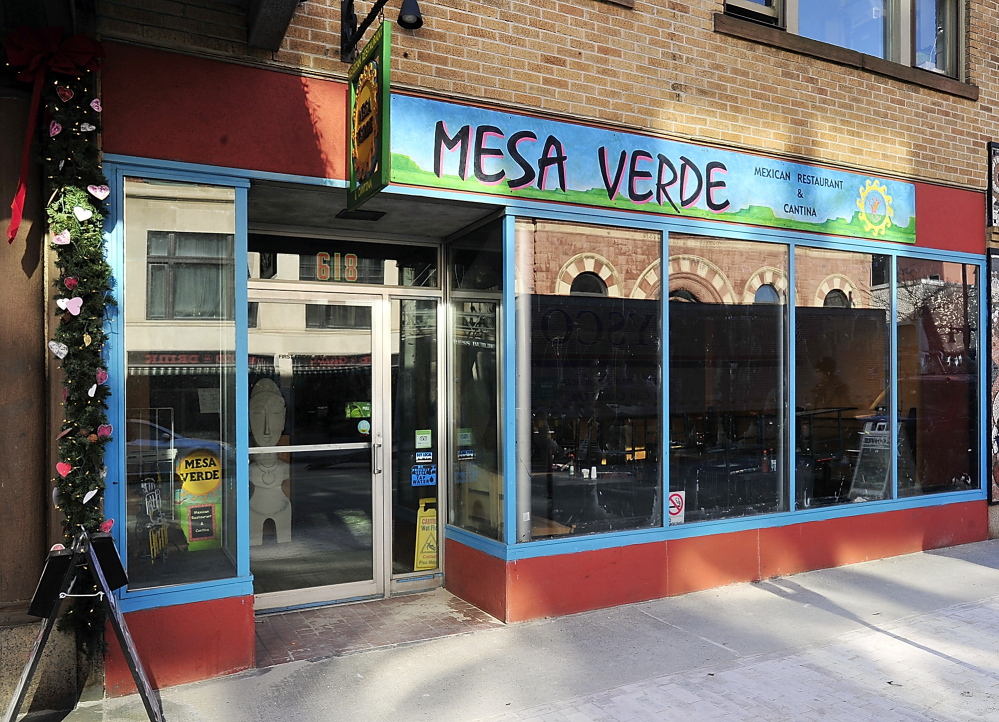 After 16 years in business, Mesa Verde at 618 Congress St. in Portland is closed indefinitely. The closure was voluntary, the city says.