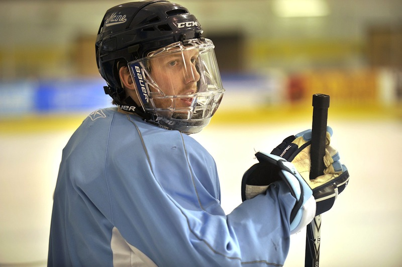 Gustav Nyquist – then with the University of Maine Black Bears – in this March 2011 file photo. Hockey