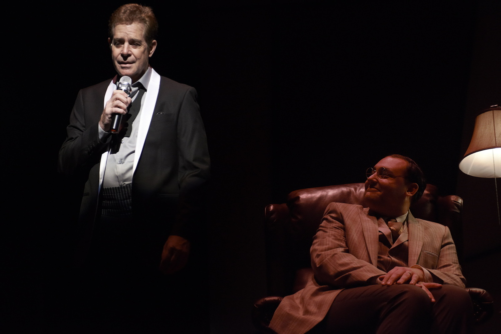 "Robert Yacko is the Crooner and Nicholas Mongiardo-Cooper is Ira Gershwin in ""Words By: Ira Gershwin and the Great American Songbook,"" continuing through Feb. 16 at Portland Stage Company."