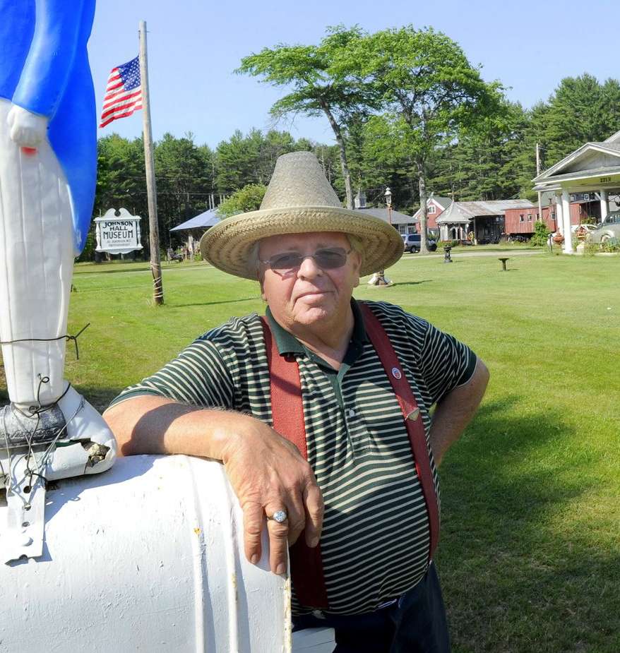 Bill Johnson, proprietor of the Johnson Hall Museum on Route 1 in Wells, is shown in 2012. Mr. Johnson died Saturday at age 73.