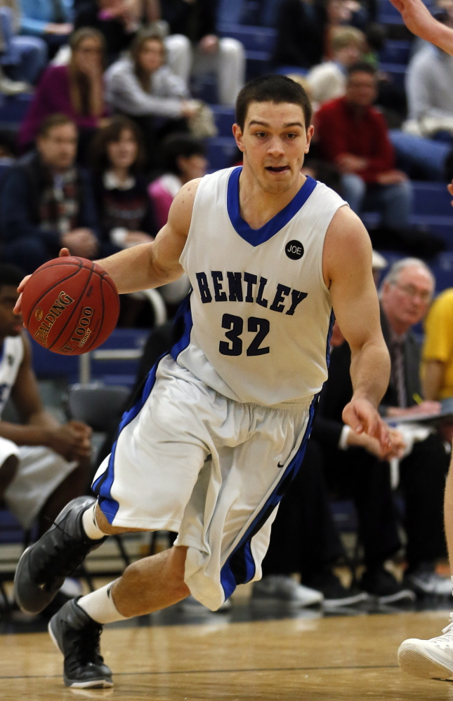 Tyler McFarland: The leading scorer and rebounder for Bentley was a standout at Camden Hills, below, driving the Windjammers to two Class B state titles in three seasons.
