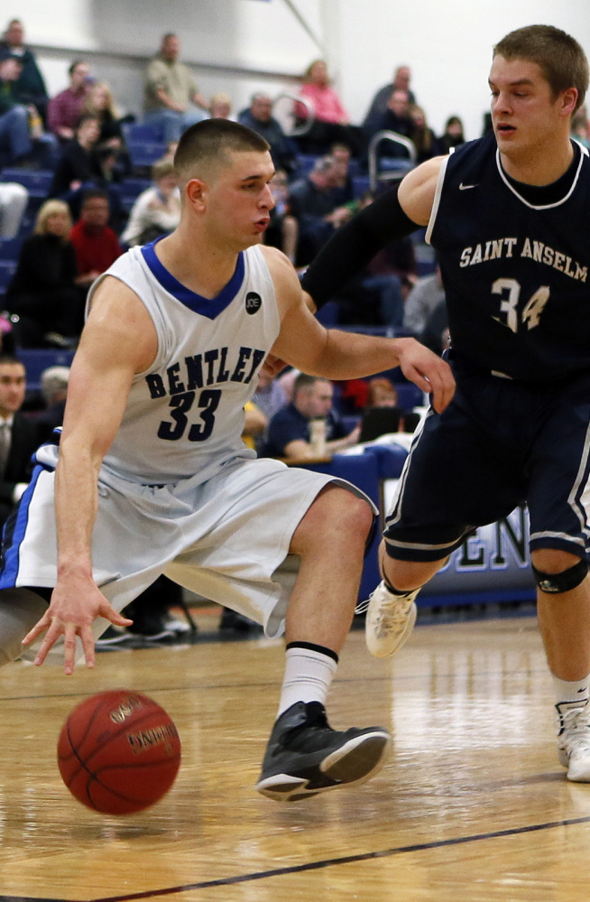 Andrew Shaw: The first of the four to commit to Bentley was a rugged forward for a successful Thornton Academy team, next photo, and is now keeping defenses honest with his shooting.
