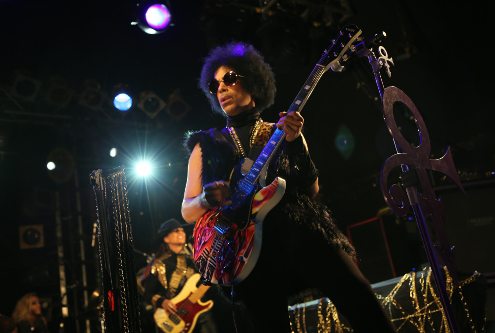 Prince performing in London on Tuesday.