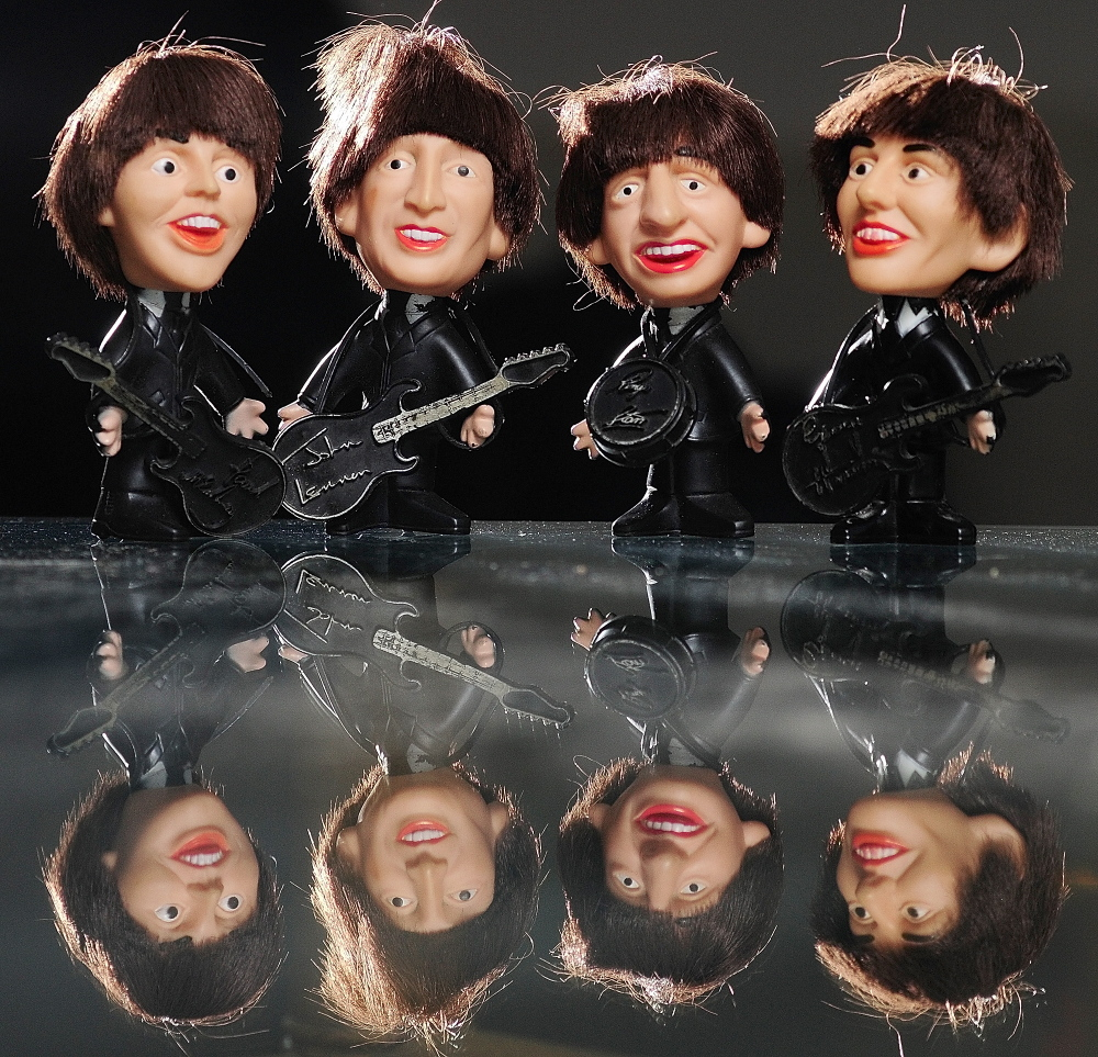 Cindy Masiero of China still has the set of Beatles dolls she got as a teenager.